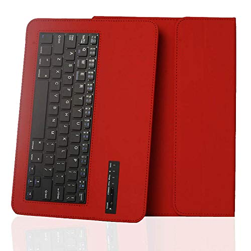 Daluo Cover with keyboard Universal Bluetooth Keyboard Leather Case Cover For 9.7 10 10.1 Inch Tablet Pc For Ipad Samsung Lenovo Wirless Keyboard Case (Color : Red)