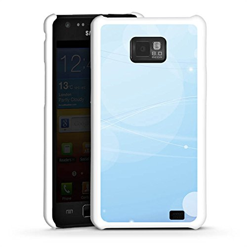 DeinDesign Hard Case kompatibel mit Samsung Galaxy S2 Schutzhülle weiß Smartphone Backcover Blau Licht Punkte