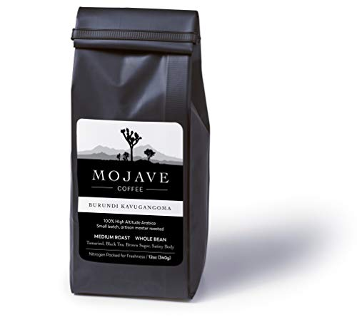 Mojave Coffee Burundi Kavugangoma, Single-Origin, Small-Batch, Fresh Roasted, 100% High-Altitude Premium Arabica, Fair Trade Direct Trade, Medium Roast 12oz (Whole Bean)