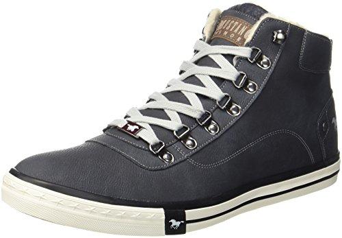 Mustang 4103-601-9, Sneaker a Collo Alto Uomo, Nero (Schwarz), 42 EU