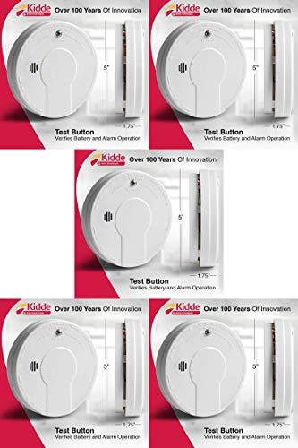 Kidde Smoke Detector Alarm | Battery Operated | Model # i9050 Pack of 5