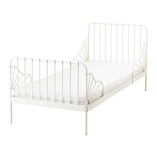 IKEA/イケア MINNEN 伸長式ベッドフレーム すのこ付き ホワイト 子供用。マットレスは別売りです。...