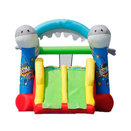 Castillo inflable Juegos Infantiles para Niños Trampolines Inflables Toboganes Recreativos Inflables Mini Trampolín Casero Zona De Juegos para El Hogar (Color : Blue, Size : 570 * 270 * 230cm)