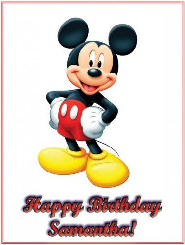 """Single Source Party Supplies - Mickey Mouse Cake Edible Icing Image #8 8.25"""" - Round"""