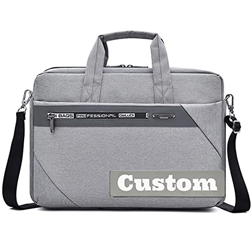 ZZMGDAM Nome personalizzato Valige per laptop leggero per laptop per le donne delle spalle degli uomini (Color : Grey, Size : One size)