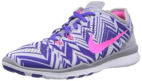 Nike Free TR 5 Print, Damen Laufschuhe, Mehrfarbig (Wolf Grey/Pink Power-Person Volt-White 005), 36.5 EU (3.5 Damen UK)