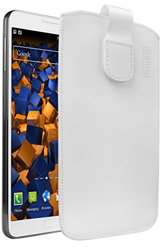 mumbi Echt Ledertasche kompatibel mit Samsung Galaxy Note 3 / Note 3 Neo Hülle Leder Tasche Hülle Wallet, weiss