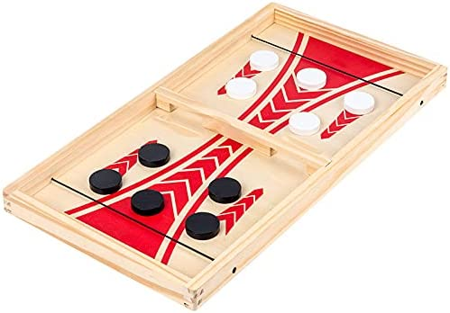 CXSMKP Max 70% OFF Large Fast Sling Puck Game Columbus Mall 3 Set Board 1 in Family
