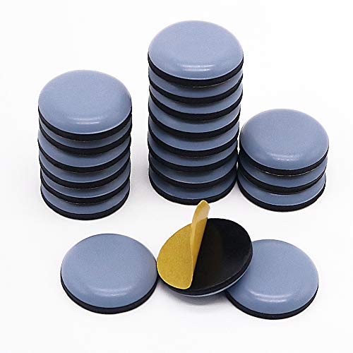 Shintop Furniture Glides, 20 Pieces Teflon Self Adhesive Chair Leg PTFE Sliders for Furniture Easy Movers