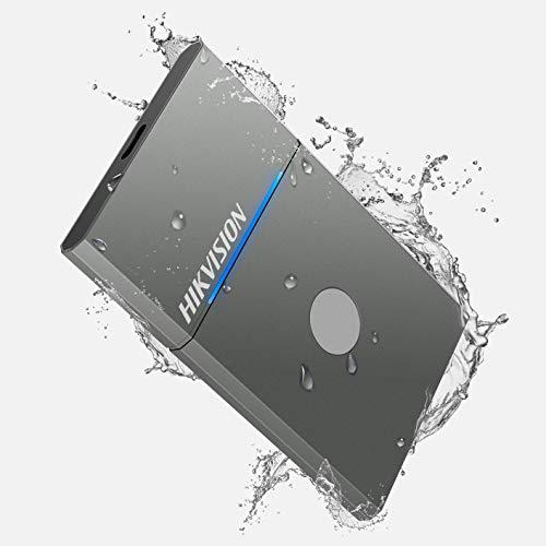 HIKVISION 500GB Tocco SSD Esterno Portatile NVMe USB 3.2 Gen 2 Velocità di lettura fino a 1060 MB s, Resistente e Impermeabile (IP55), unità a stato solido esterna (grigio)