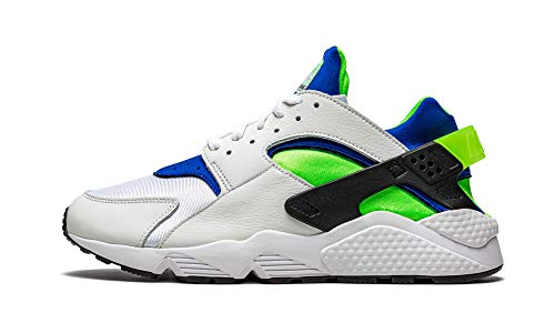 Nike Air Huarache, Zapatillas para Correr Hombre, White Scream Green Royal Blue Black, 42 EU
