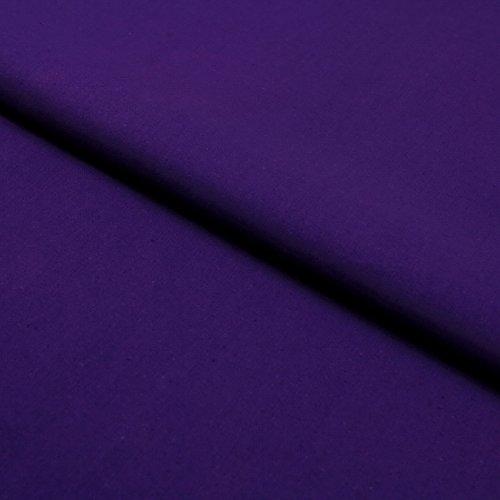 Hans-Textil-Shop Stoff Meterware Lila Baumwolle Linon (Einfarbig, Uni, Schadstoffgeprüft, Pflegeleicht, ca 140 g/qm, ca. 145 cm breit, 1 Meter)