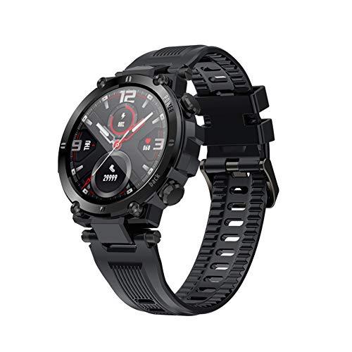 QNMM Reloj Inteligente para Hombres, IP68 Resistente Al Agua 1.3' Soporte de Pantalla Táctil Completa Monitor de Presión Arterial Ritmo Cardíaco Rastreador de Ejercicios Smartwatch, para iOS Android