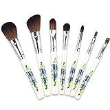 Brochas De Maquillaje Set 7 Juegos De Cepillo De Maquillaje De Mango De Cerámica Cepillo De Maquillaje De Viento Chino
