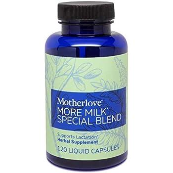 Motherlove More Milk Special Blend (120 ct) Herbal Galactagogue Breastfeeding Supplement w/Goat's Rue & Organic Herbs - Supports Mammary Tissue Development & Milk Supply