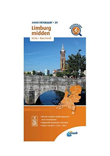 Fietskaart Limburg midden 1:66.666: Venlo, Roermond