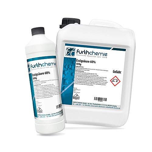 Essigsäure 60% | Kanister 10 KG (Essigessenz, Reiniger, Entkalker)