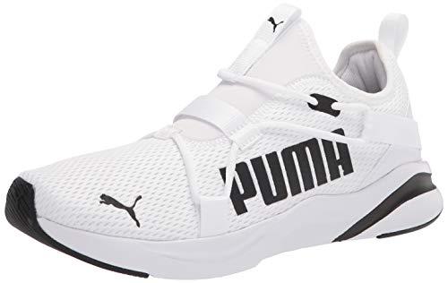 PUMA mens Softride Rift Slip on Running Shoe, White/Black, 8 US