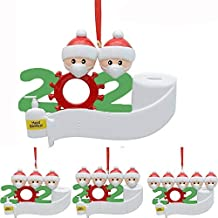 2020 Snow Family Santa Christmas Home Party Hanging Ornaments Decorations Gifts (1, 4 Family Members)