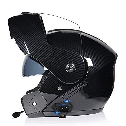 Modulable Casque de Moto,Bluetooth Integral Casque Moto Modulable...