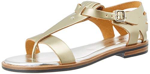 Frau, Sandali con Cinturino alla Caviglia Donna, Grigio (Platino Platino), 37 EU