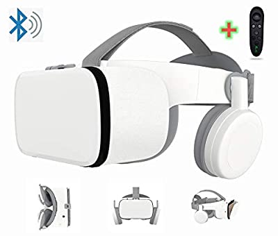 """3D Virtual Reality Headset With Wireless Remote Bluetooth, 3D VR Glasses for TV,Movies & Video Games IMAX, Compatible for Android iOS iPhone 12 11 Pro Max Mini X R S 8 7 Samsung 4.7-6.2"""" Cellphone"""