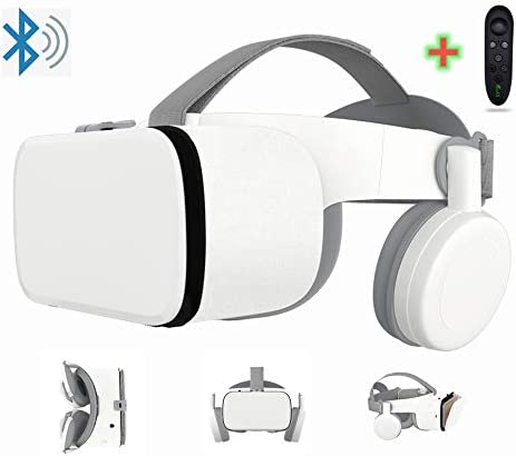 3D Virtual Reality Headset With Wireless Remote Bluetooth 3D VR Glasses for Movies Video Games product image