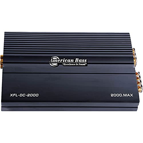 American Bass XFL DC 2000 Monoblock 4 Channel Class D 2000 Watt Max Power 180Hz Low Pass Car Audio Amplifier with Bass Boosting Functionality, Black
