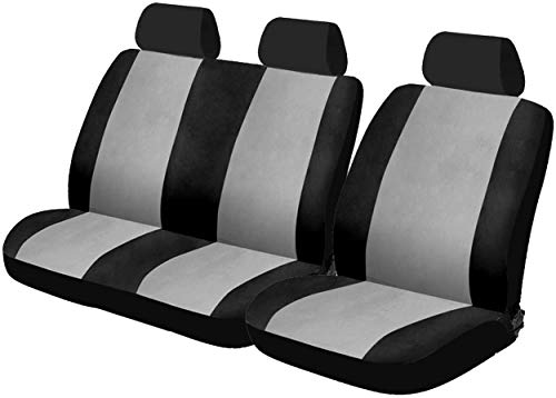 SUMEX FUNDVAN Car+ Special Van Funda de Asiento Universal Especial para Furgonetas, Color Negro y Gris (Juego de 6)