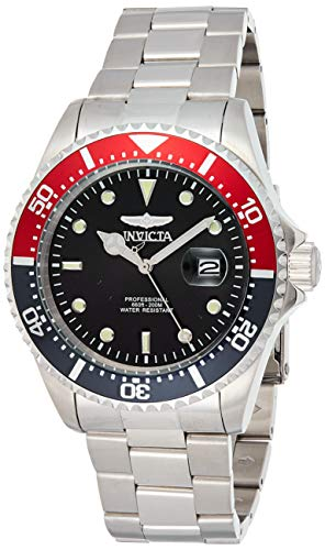 Invicta Men's Pro Diver 43mm Stainless Steel Quartz Watch, Silver (Model: 23384)
