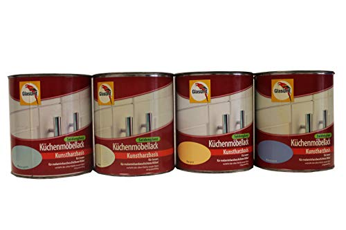 Glasurit Küchenmöbellack Seidenglanz Kunstharzbasis 750 ml Farbwahl, Farbe:Banane