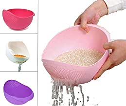 PRAMUKH FASHION Plastic Rice Pulses Fruits Vegetable Noodles Pasta Washing Bowl & Strainer Good Quality & Perfect Size for Storing and Straining Pack of 1
