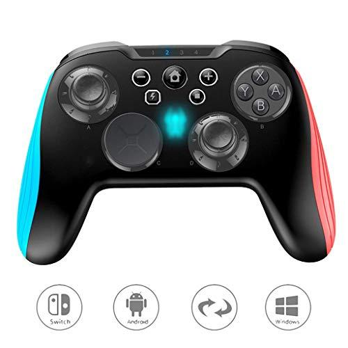 WXLSQ Wireless Switch Controller Gamepad Manette De Jeu Prise en Charge Gyro Axis, Turbo Réglable Et Double Vibration PS4 Contrôleur Joypad Standard Bluetooth Compatible avec, Switch, PC, Android
