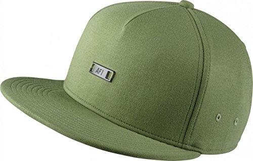 Nike U NK Air True Cap EOS TPU Schirmmütze für Tennis für Herren, Grün (Palm Green/Palm Green/Metallic Silver), Universalgröße