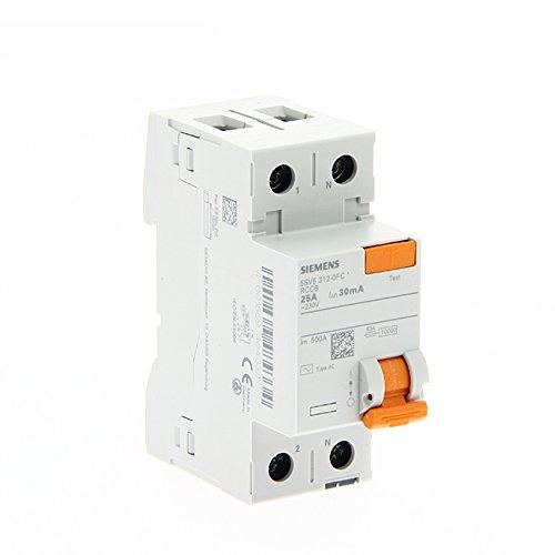 Siemens sentron - Interruptor diferencial clase -ac maneta naranja 2 módulos 2 polos 25-30ma