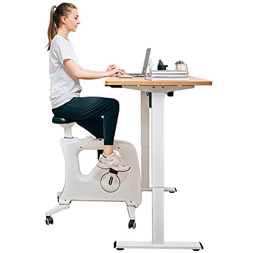 FLEXISPOT Home Office Under Desk Exercise Bike Height Adjustable Cycle - Deskcise Pro