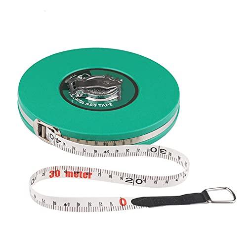 TFGUOqun Duradero Cinta métrica de Fibra de Vidrio 10/15/20/30 / 50m de medición de la Cinta retráctil de la Regla Flexible de la Regla de la medición de Las Herramientas de medición para medir