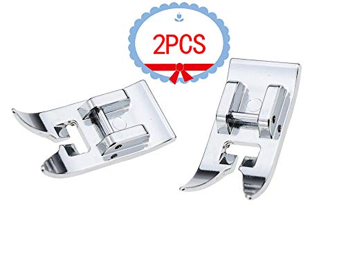 TFBOY 2pcs Zig Zag, Straight Stitch Foot Snap On Foot Sewing Machine Presser Foot Will Fit Singer, Brother, Janome, Toyota, Etc Domestic Sewing Machines