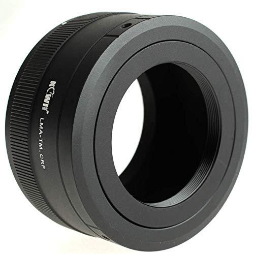 Kiwifotos LMA-TM_CRF - Adaptador de Objetivo para Objetivo T2 a cámara Canon EOS R