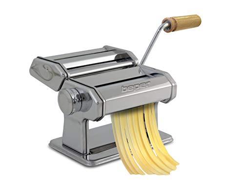 Beper Macchina per la Pasta Fatta in casa, Acciaio Inossidabile