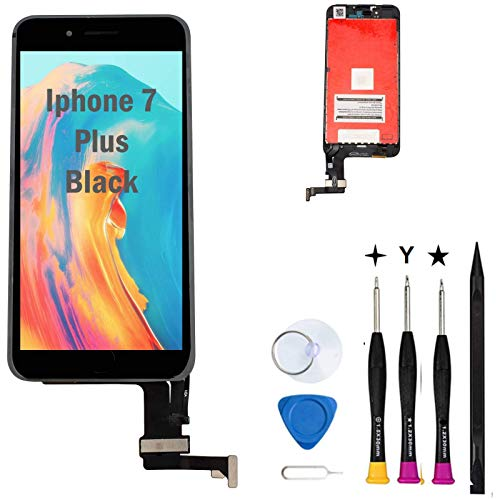 Oli & Ode Compatible with iPhone 7 Plus Screen Replacement LCD Digitizer Touch Screen Assembly Set with 3D Touch Model No.A1661 A1784 A1785( Black)
