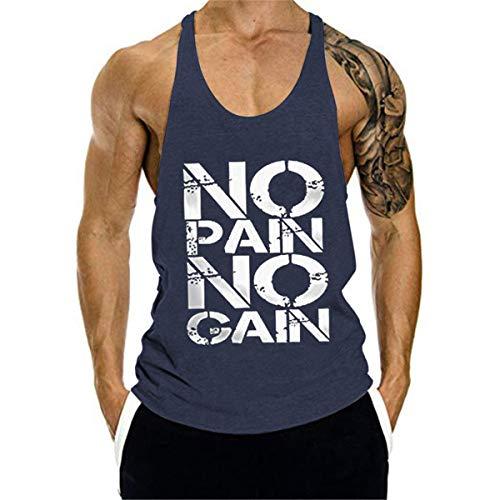 Cabeen Uomo Bodybuilding Canotta Palestra Canottiera No Pain No Gain Tank Top