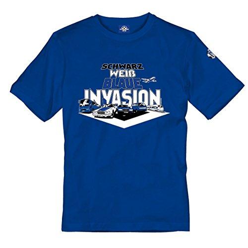 Volkspark Hamburg Streetwear Herren Shirt Invasion Blau 3XL