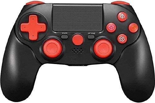 TPFOON Mando Inalámbrico para PS4, Controlador Bluetooth para Playstation 4 / Slim/Pro/PC, Wireless Gamepad Joystick de Panel Táctil con Vibración Doble y Puerto de Audio con LED Indicador
