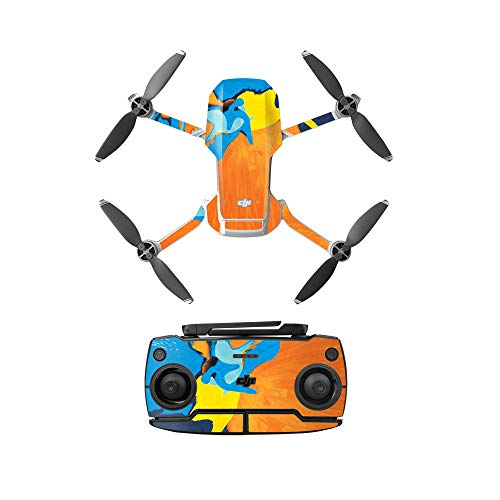 Yifant PVC Drone Sticker for DJI Mavic Mini Drone Accessories Waterproof Skin Guard Scratch-Proof DIY Accessory (Colorful Painting)