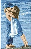 カウントされたクロスステッチキットビーチ愛好家初心者のための刺繡スターターキットのフルレンジ11Ct3ストランド16×20インチ