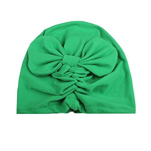 Weihuimei 1pièce Lovely bébé garçon fille Toddler Bowknot Coton doux Chapeau Casquette vert Green 20*13.5cm
