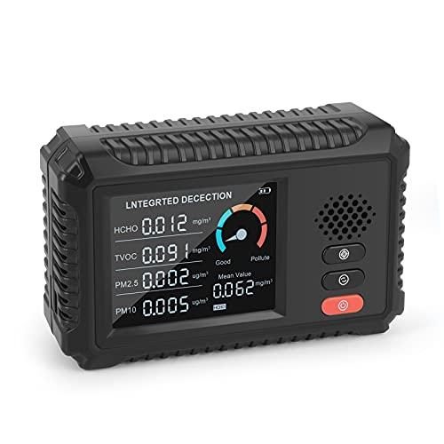 Irishom Monitor de Calidad del Aire Detector de Formaldehído Tvoc Probador Pm2.5/Pm10 Detector de Gas de Aire Multifuncional Monitoreo de Datos en Tiempo Real Detección Inteligente