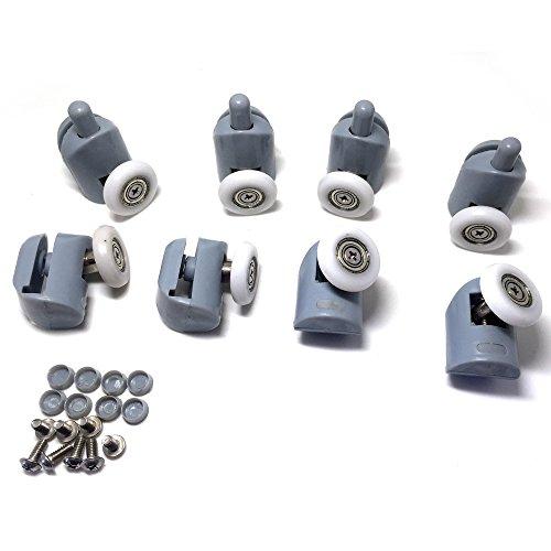 Gruppo 8 cuscinetti per cabine doccia e box doccia con rotelle (20-27 mm) (20 mm)