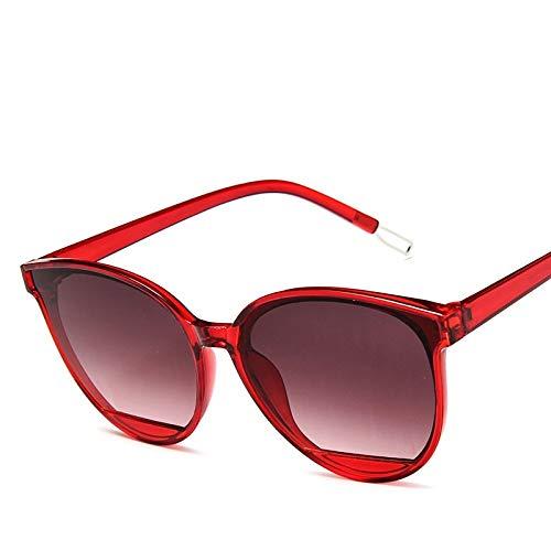 Zonnebril voor dames en heren, klassieke zonnebril, kleuren vintage, retro mode, rood, trendy tranen, zonnebril, modieus, wilde dames, zonnebril, wijn, rood, groot gezicht, jelly glazen, uv-bescherming, zonnebril